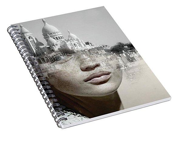 Cherishing White Buildings Spiral Notebook