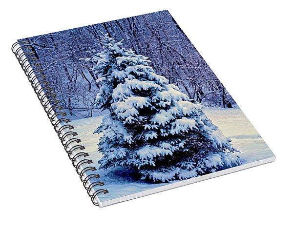 Christmas Tree Winter Spiral Notebook