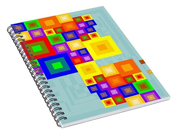 Colourful Cubism  Spiral Notebook