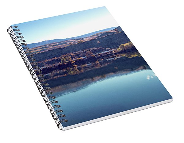 Spiral Notebook featuring the photograph Train Reflection by Mae Wertz