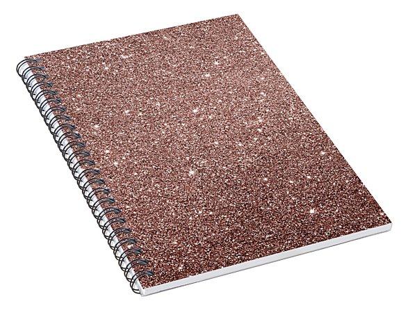 Cooper Glitter Spiral Notebook