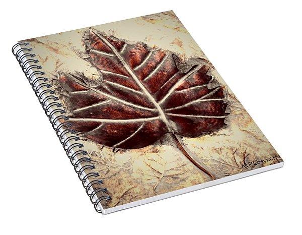 Copper Leaf Spiral Notebook