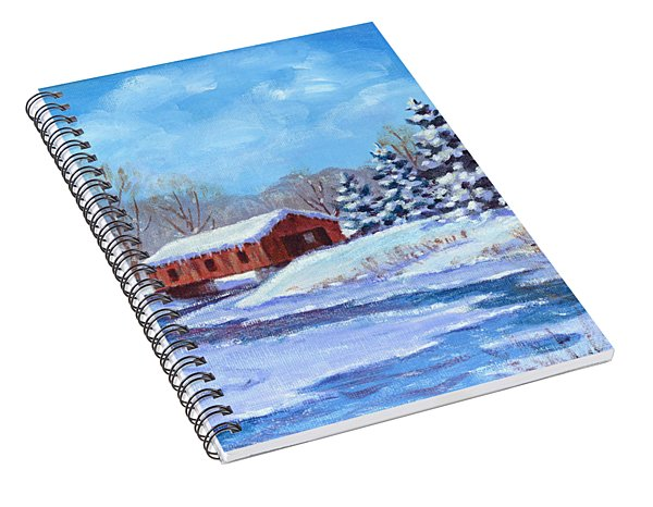Covered Bridge Sketch Spiral Notebook