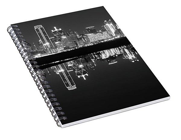 Dallas Texas Cityscape Reflection Spiral Notebook