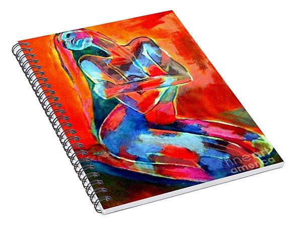 Dancing Gilded Light Spiral Notebook