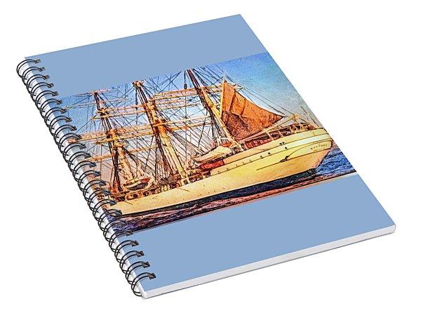 Danmark Tall Ship Spiral Notebook