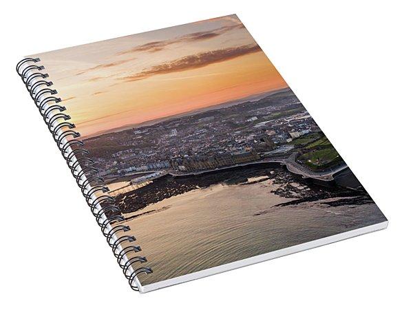 Daybreak Over Aberystwyth Wales Spiral Notebook