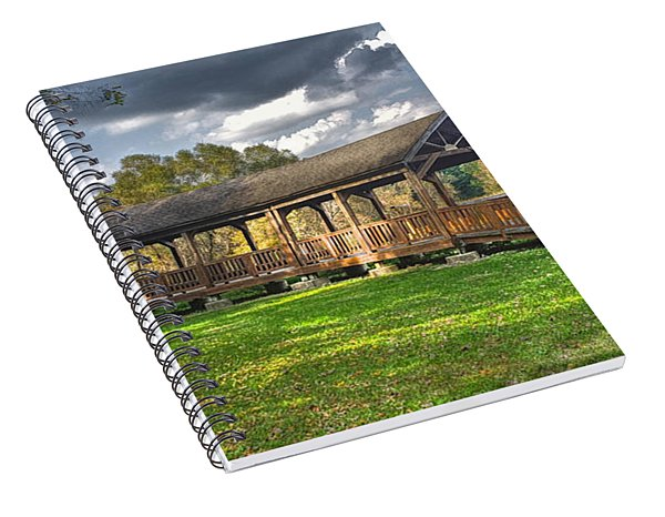 Deck At Pickerington Ponds Spiral Notebook