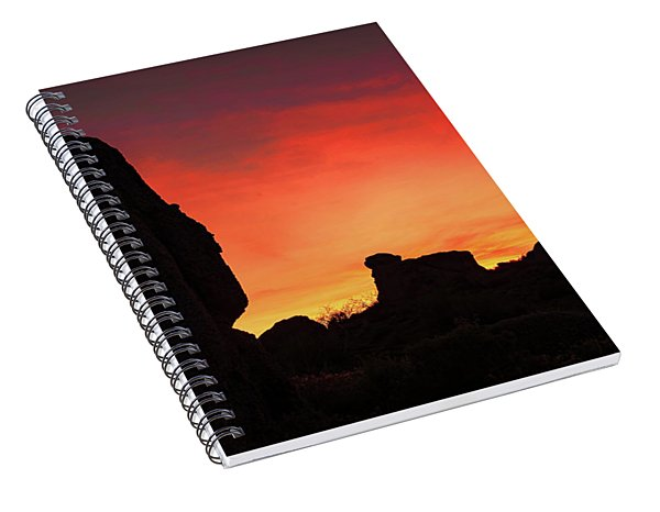 Desert Sunset Spiral Notebook
