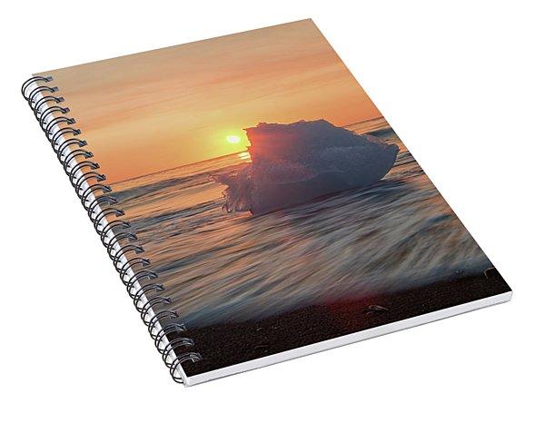 Diamond Beach Sunrise Iceland Spiral Notebook