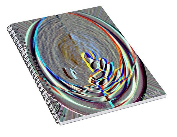 Digital II Disrupted Egg Path On Blue Spiral Notebook