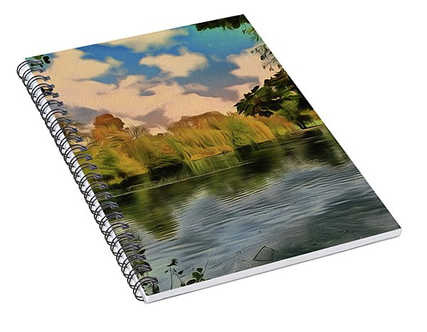 Spiral Notebook featuring the photograph Drawn To Water by Leigh Kemp
