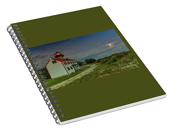 East Point Lighthouse In Moonlight Spiral Notebook