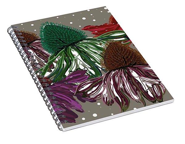 Echinacea Flowers Dance Spiral Notebook