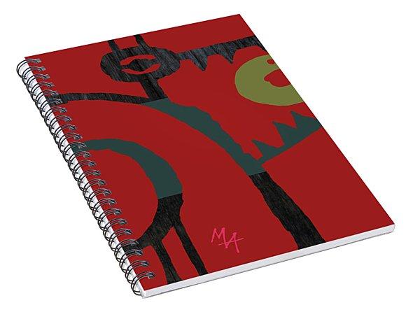 Spiral Notebook featuring the digital art Eggeater by Attila Meszlenyi