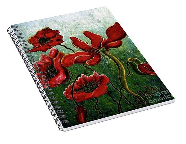 Endless Poppy Love Spiral Notebook
