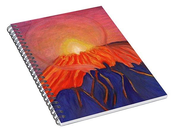 Erupting Volcano Spiral Notebook