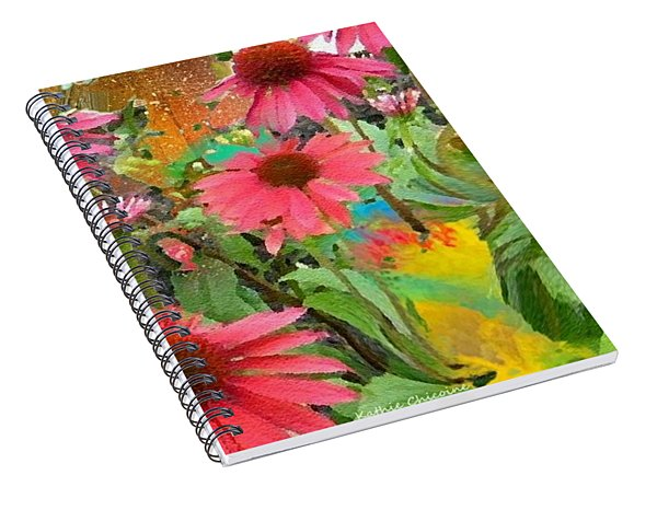 Fairy Among The Flowers Spiral Notebook