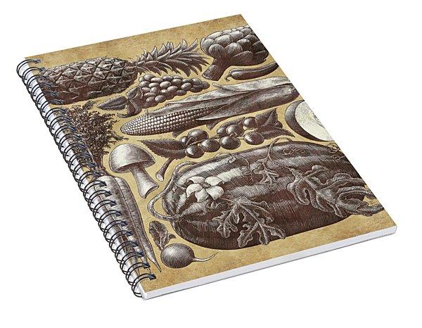 Farmer's Market - Sepia Spiral Notebook