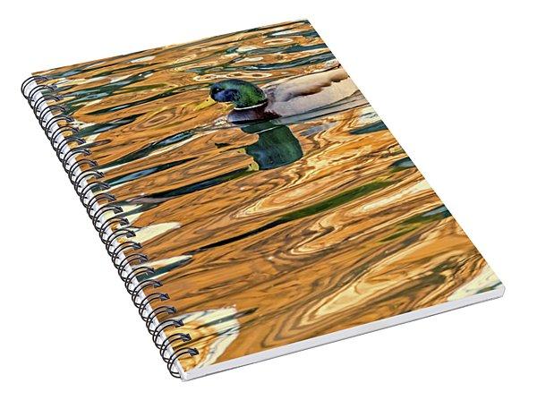 Floating In Color Spiral Notebook
