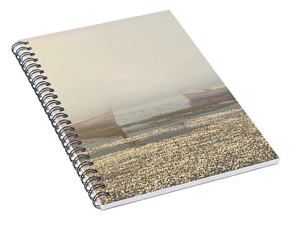 Fog On Lake Spiral Notebook