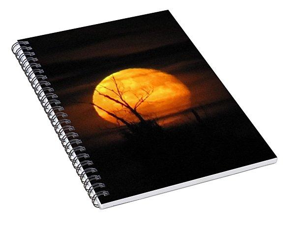 Foggy Harvest Moon Spiral Notebook