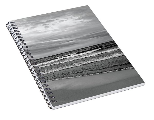 Fresh Water Black And White Spiral Notebook