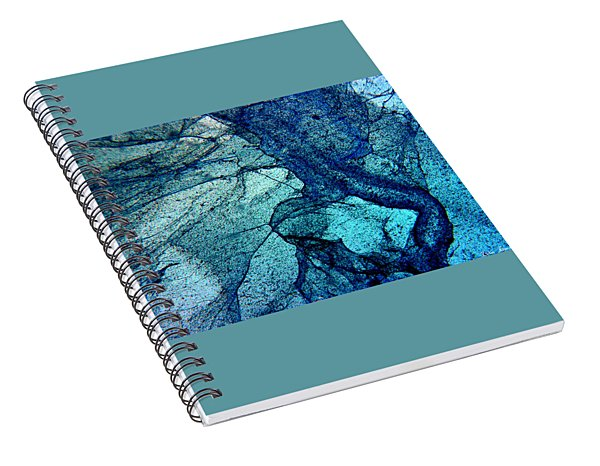 Frozen In Blue Spiral Notebook