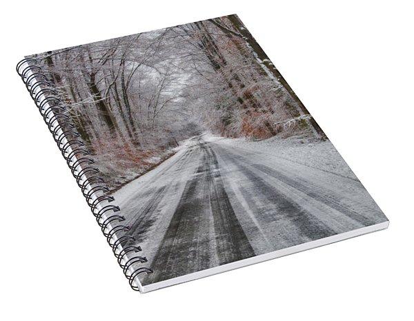 Frozen Road Spiral Notebook