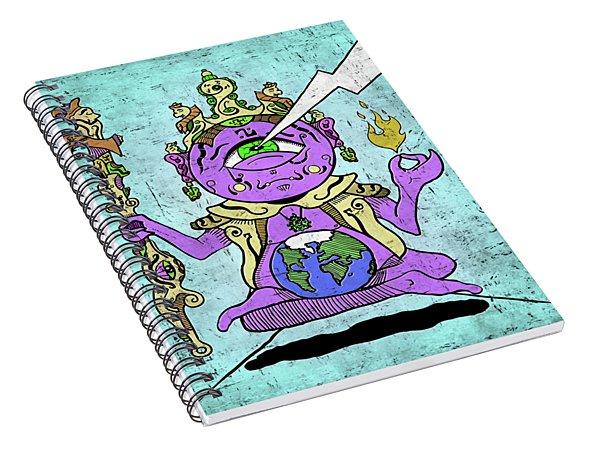 Spiral Notebook featuring the digital art Gautama Buddha Colour Illustration by Sotuland Art