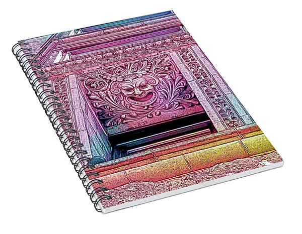 Ghoulish Gargoyles Abstract Spiral Notebook