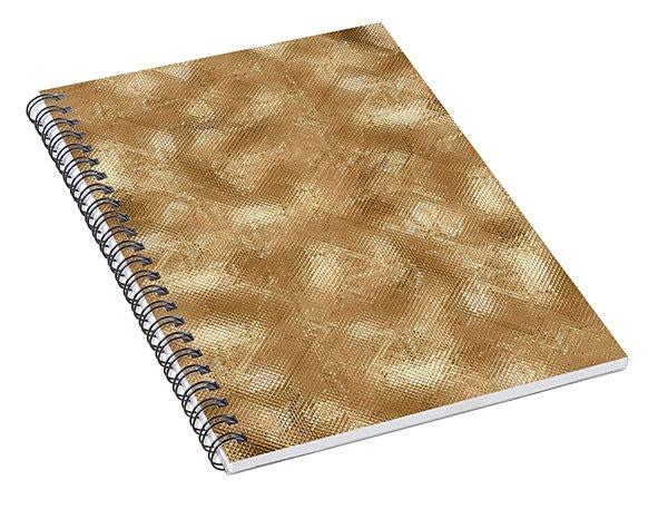 Gold Metal  Spiral Notebook