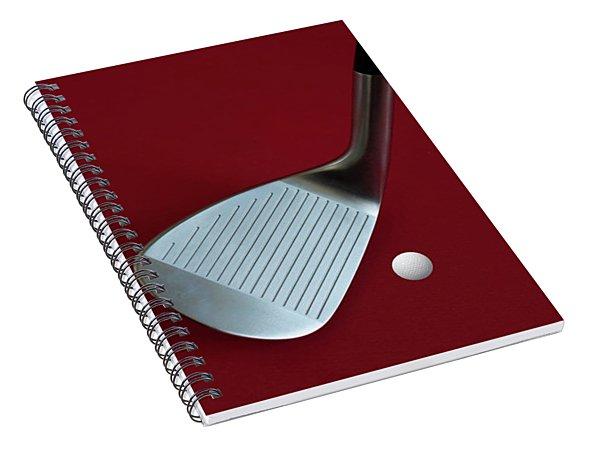 Golf Club Wedge And Golf Ball Spiral Notebook