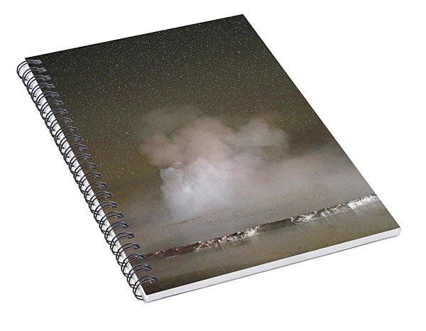 Great Fountain Geyser At Night Spiral Notebook