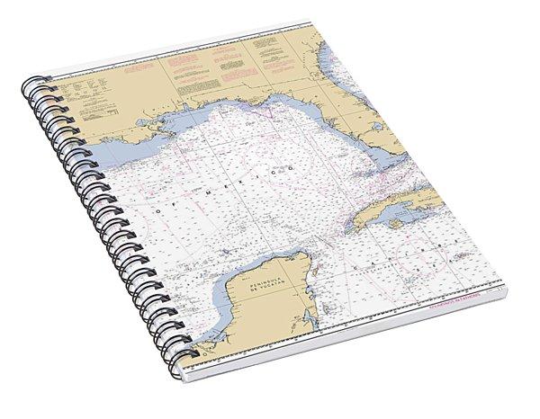 Gulf Of Mexico, Noaa Chart 411 Spiral Notebook