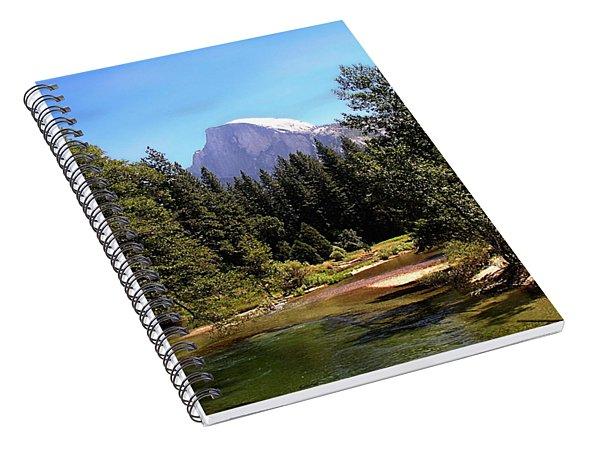 Half Dome From Ahwanee Bridge - Yosemite Spiral Notebook