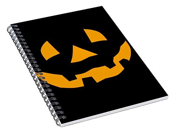 Halloween Pumpkin Tee Shirt Spiral Notebook