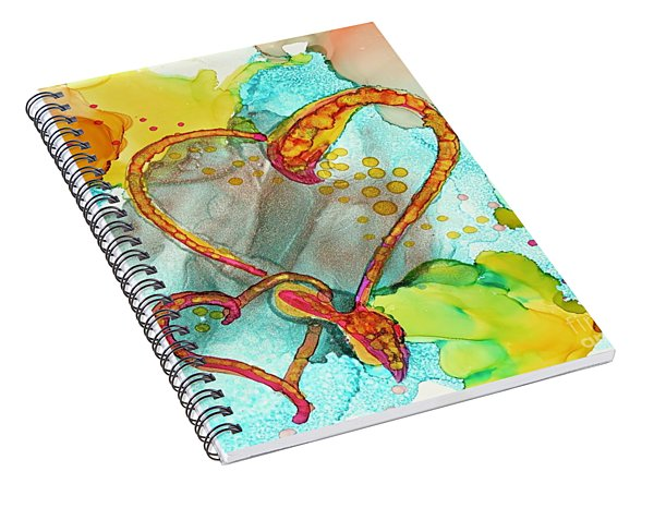 Hearts Entwined Spiral Notebook