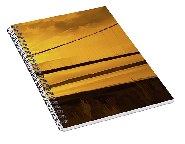 Humber Bridge Golden Sky Spiral Notebook