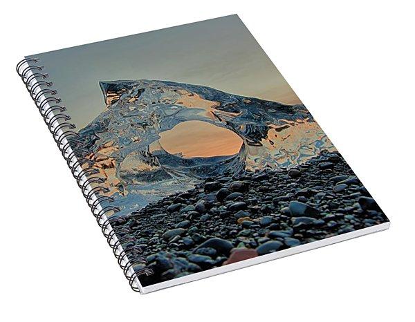 Iceland Diamond Beach Abstract  Ice Spiral Notebook