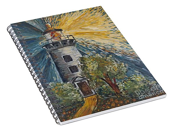 Spiral Notebook featuring the painting Illumination by Maria Langgle