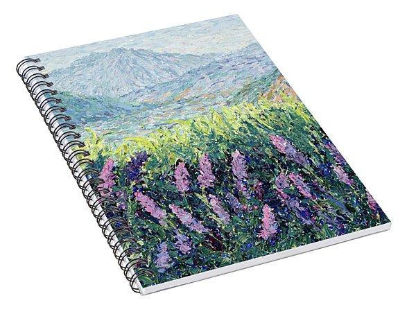 Lavender Impasto  Spiral Notebook
