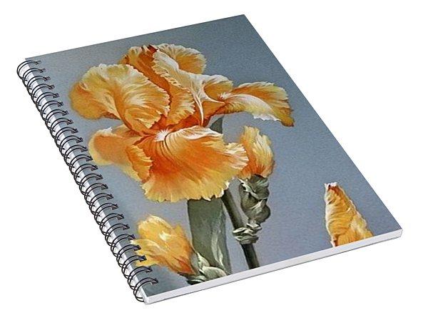 Iris Flower With Butterfly Spiral Notebook