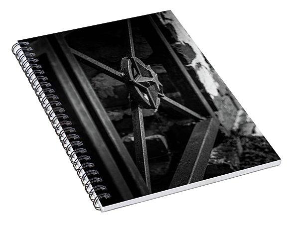 Iron Gate In Bw Spiral Notebook