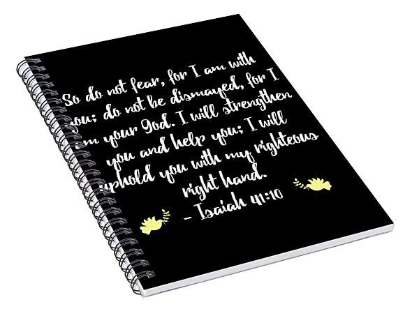 Isaiah 4110 Bible Spiral Notebook