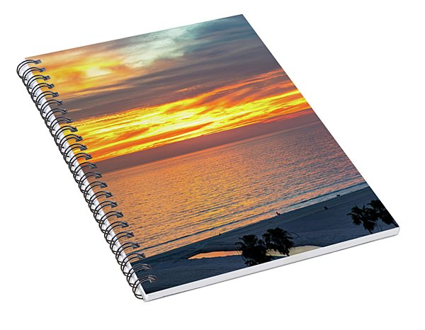 January Sunset - Vertirama Spiral Notebook