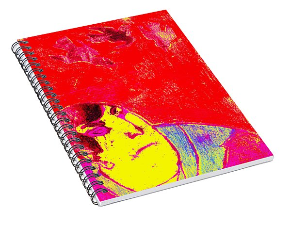 Japanese Pop Art Print 6 Spiral Notebook