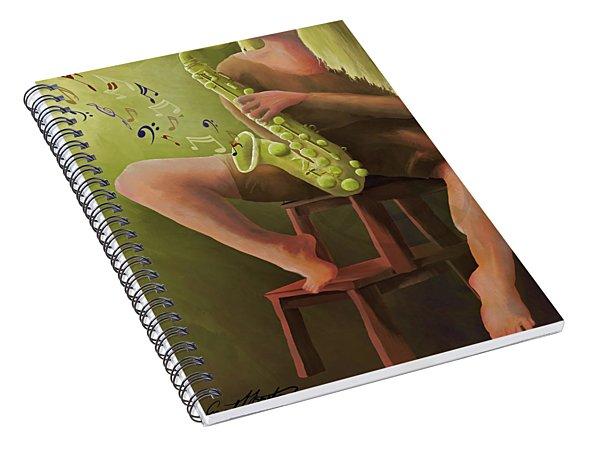 Joys Of The Saxophone Spiral Notebook