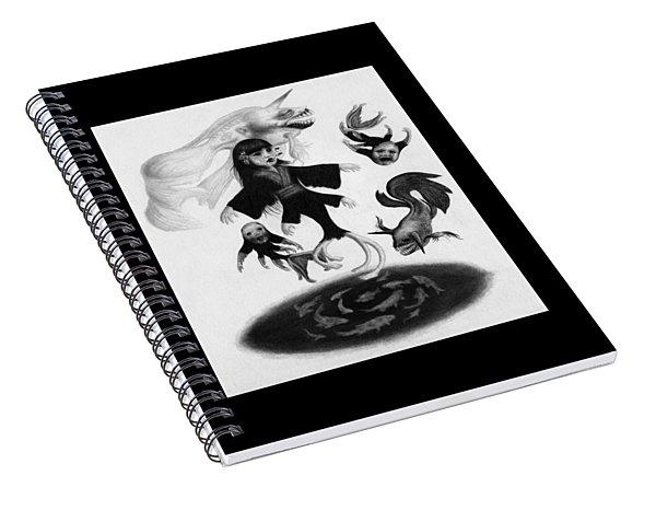 Keiko Among The Koi - Artwork Spiral Notebook
