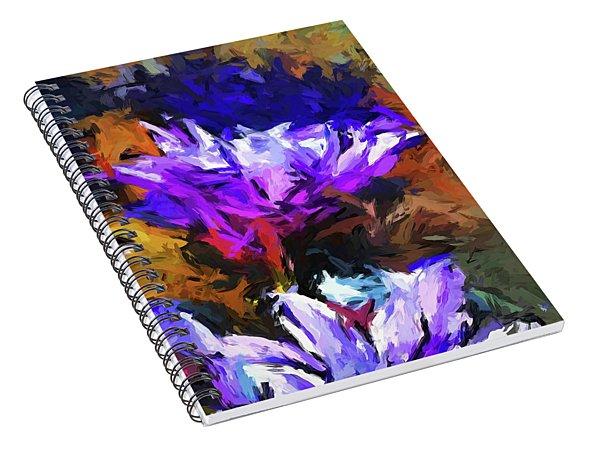Lavender Flower And The Cobalt Blue Reflection Spiral Notebook